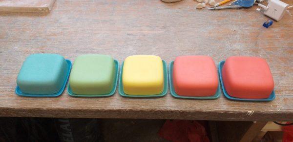 Handmade butter dish