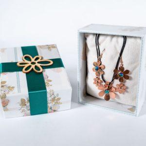 Blossom Designs Flower Pendant and Earring Set
