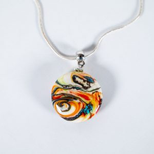 Colourful pendant necklace